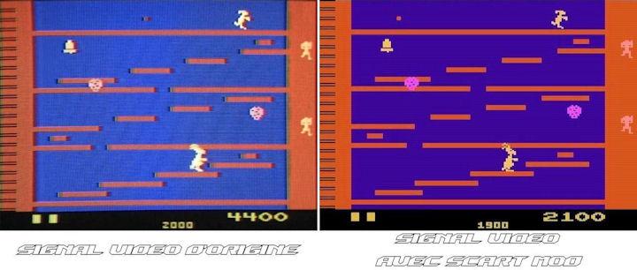 Atari 2600 - Scart Mod Comparo Kangaroo
