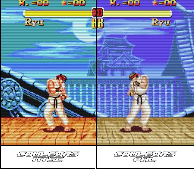 Colour Mod - Megadrive - Ntsc VS Pal