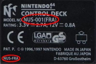 Nintendo 64 - NUS -001(FRA)
