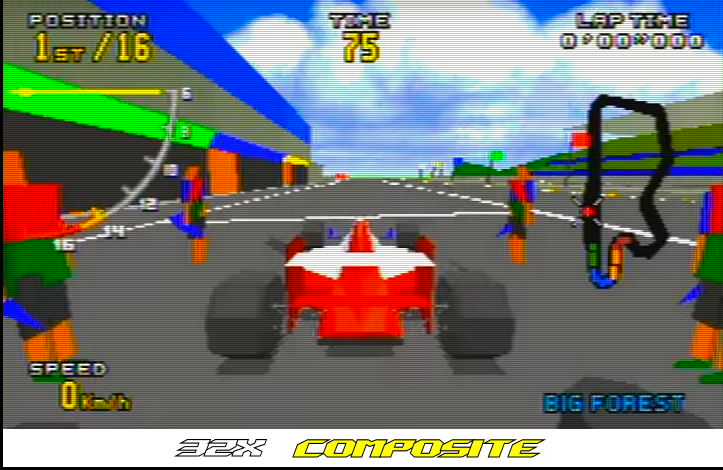Sega - 32X - Composite vs RGB (Virtua Racing Composite