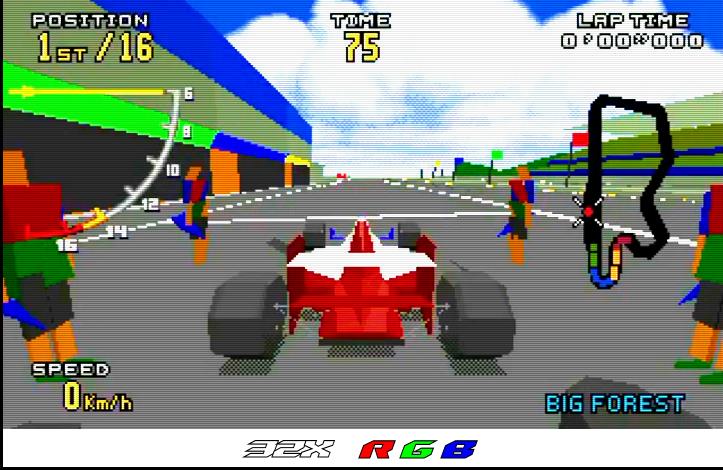 Sega - 32X - Composite vs RGB (Virtua Racing RGB